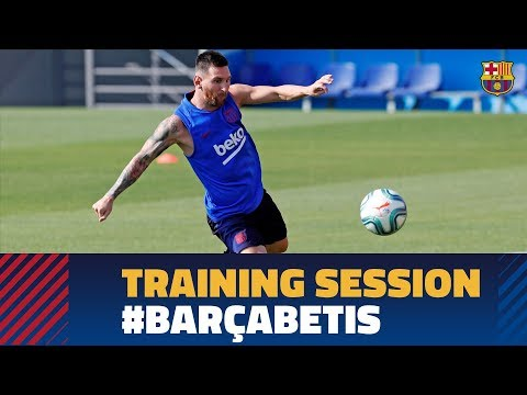 Penultimate session before Betis game with Messi