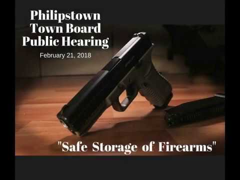 """Philipstown Town Board Public Hearing """"Safe Storage of Firearms"""" February 21, 2018"""