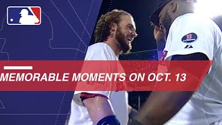 MLB's Memorable Moments on October 13
