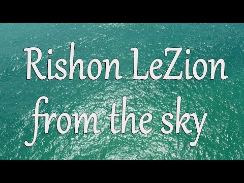 Israel. Rishon Le-Zion From The Sky. 4k