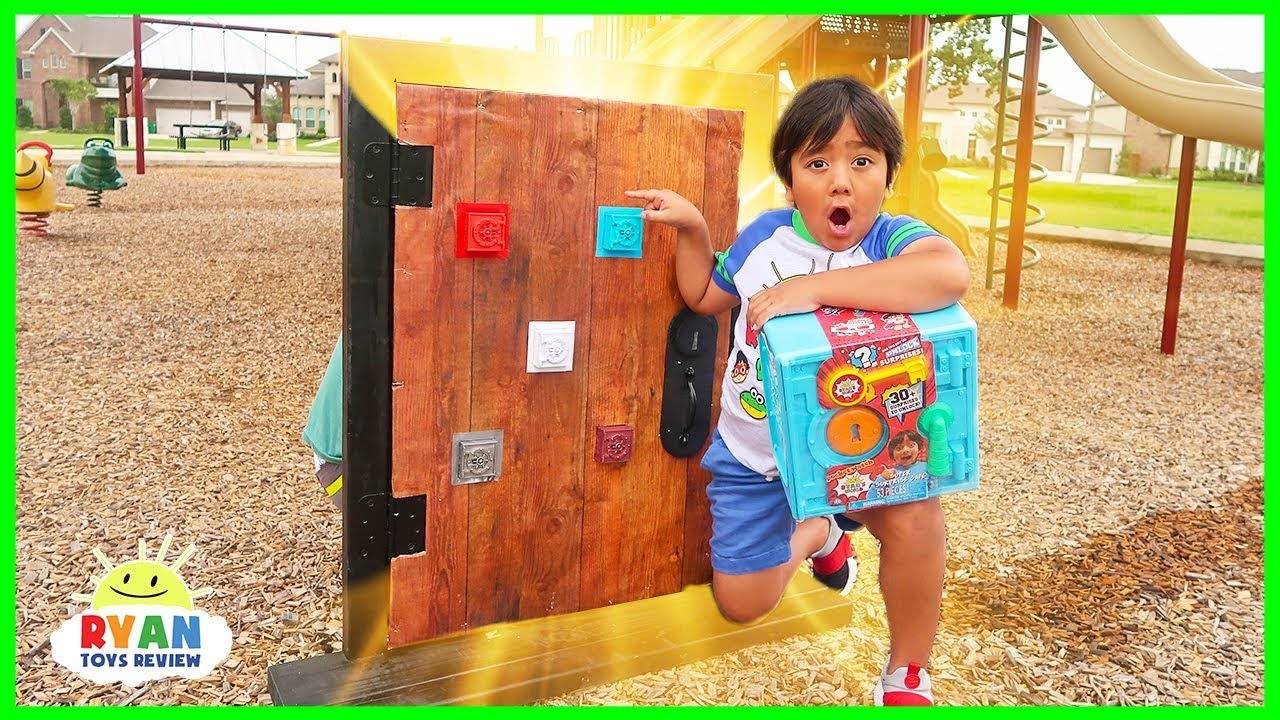 Ryan found a secret door from his room to the playground!!!