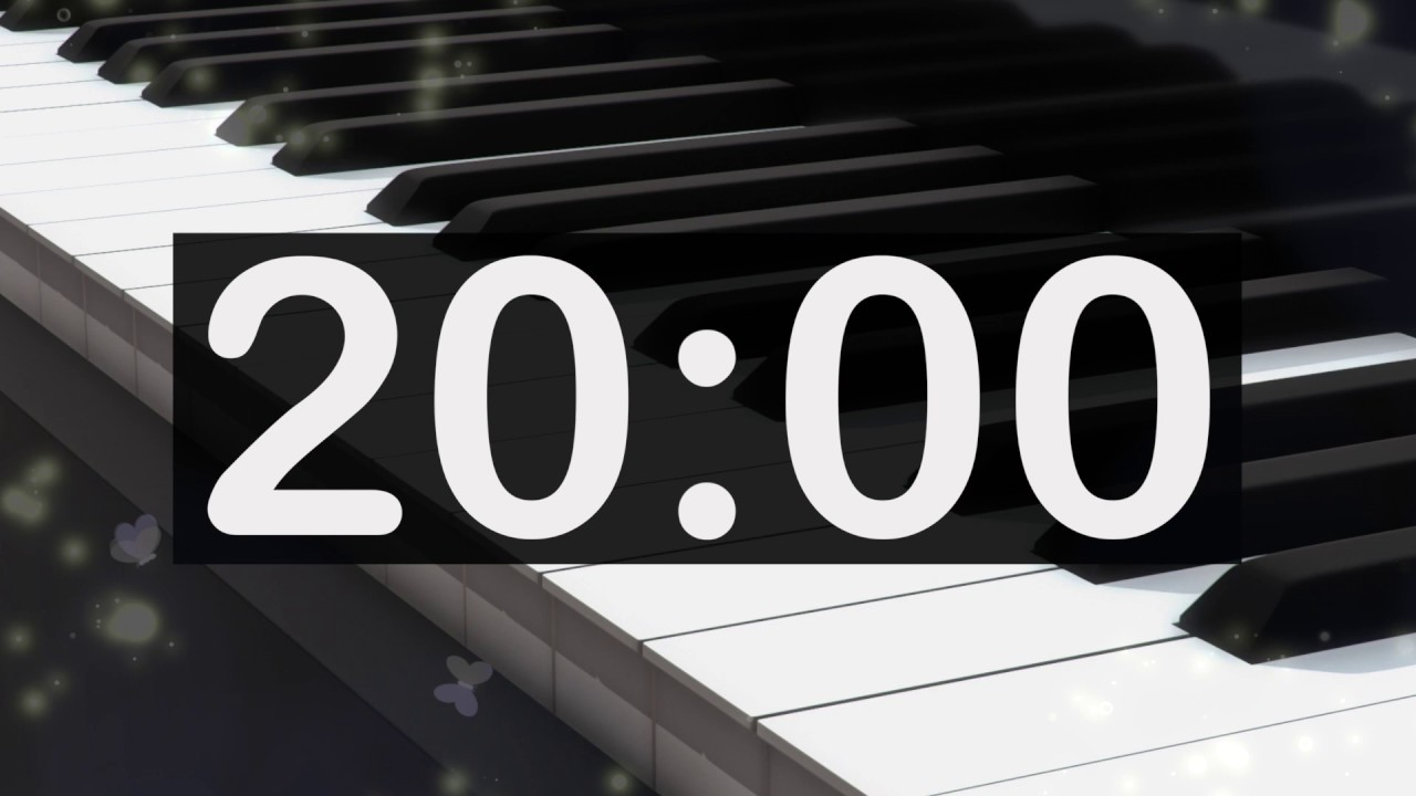 20 Minute Timer with Classical, Calming, Relaxing Music! Soft, Gentle,  Piano, Countdown Music Timer!