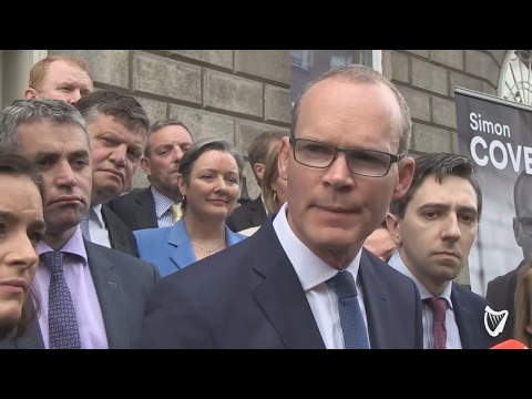 VIDEO: Simon Coveney heaps praise on Michael Noonan as he steps down as Finance Minister