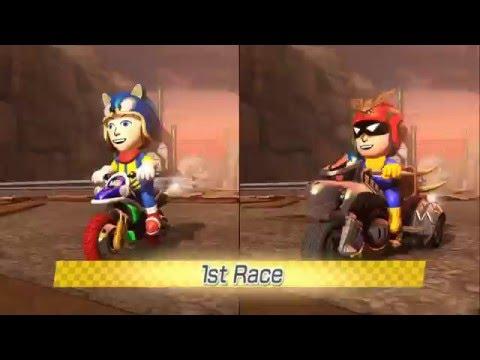 Mario Kart 8 - Triforce Cup (DLC Cup) 200CC 2 Player |