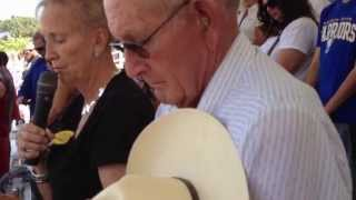 Introduction of Clyde and Elsie Frost & Elsie's Prayer Sunday at Livermore Rodeo 2014