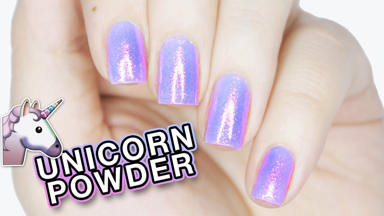 How To Use Unicorn Powder With Regular Polish Youtube