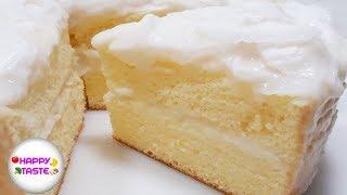 เค้กมะพร้าวอ่อนสูตรนุ่มCoconut cake recipe | happytaste