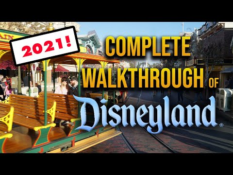 Complete walkthrough of Disneyland 2021   Entire park from OPENING DAY!