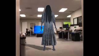 これは怖い!「貞子」がテレビ画面から飛び出してくるシーンをAR技術で再現してみた