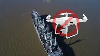 Drone Flying Over Naval War Ships - Phantom 4 Pro