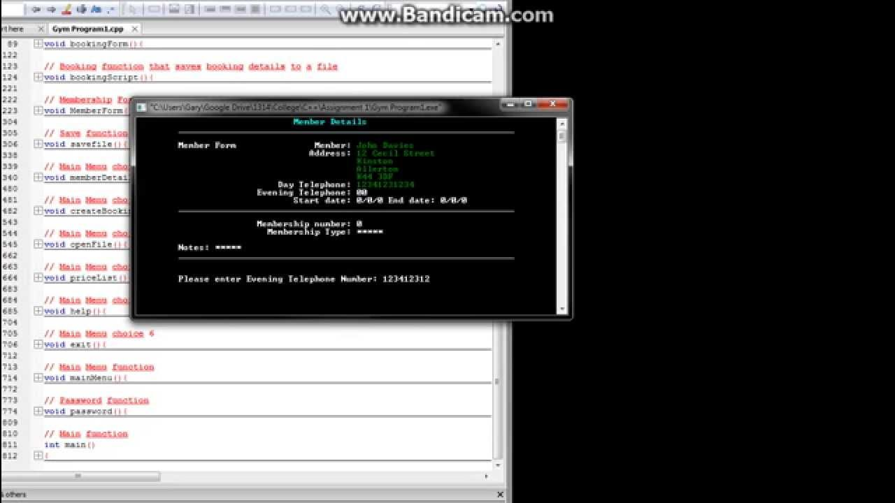 Booking System In C Youtube