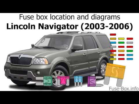 Fuse box location and diagrams Lincoln Navigator (2003-2006) - YouTube