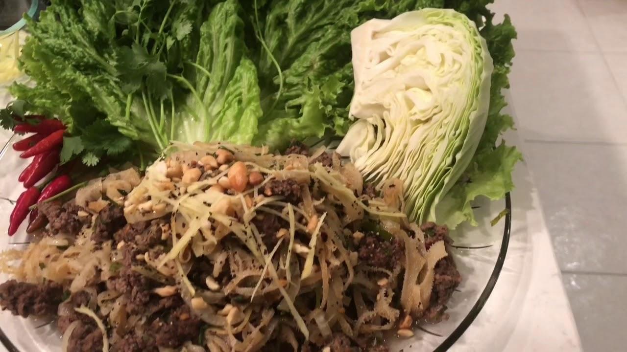 """Lapp Or Larp .Sách , Thịt Bò Xào Cay.Món Ăn Yêu Thích Cũa Người Lào , H""""Mong , Thái"""