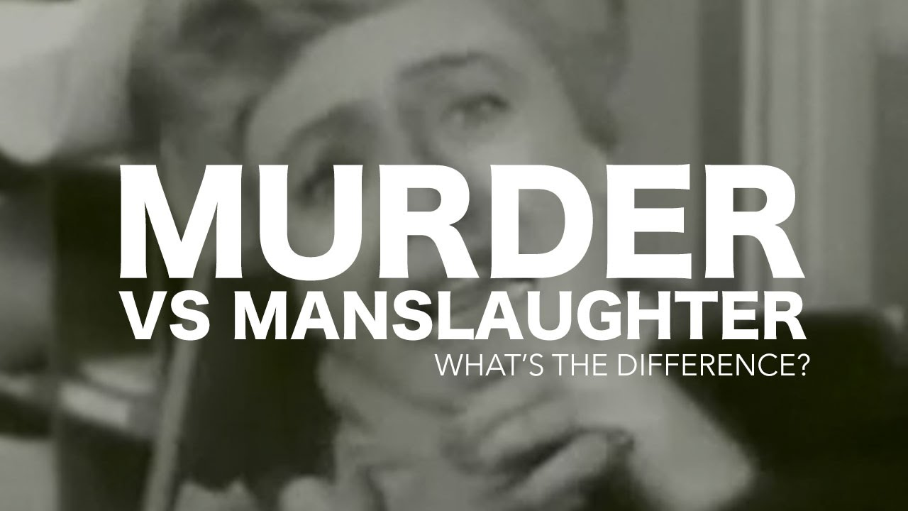 manslaughter vs murder