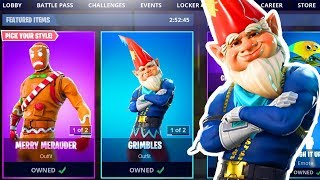 🎄 NEW GRIMBLES SKIN FORTNITE ITEM SHOP CHRISTMAS SKINS COUNTDOWN! (Fortnite Battle Royale LIVE)