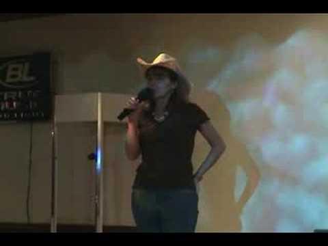 Kim West-Lunsford sings Karaoke at Sundown 2
