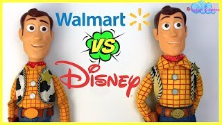 WALMART VS DISNEY PARKS WOODY TOY STORY DOLL ! WHATS THE DIFFERENCE? WHICH IS BETTER?