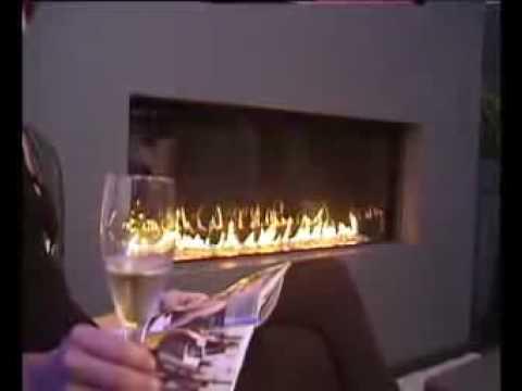 Chimenea de gas mdesign gas chimeneas erre youtube - Chimeneas de bioalcohol ...