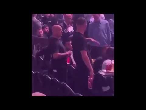 Nate Diaz & Khabib Nurmagomedov altercation at UFC 239