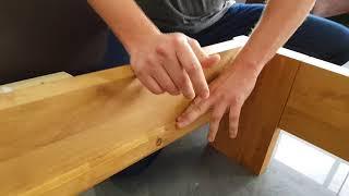 Montaż drewnianego łóżka Moderno, Passat, Aversa, Rossa
