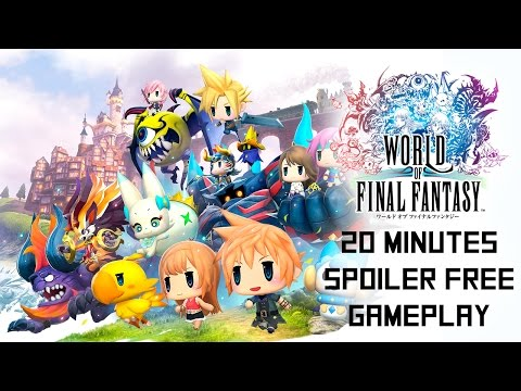 20 Minutes of World of Final Fantasy Gameplay - Icicle Ridge, Slide Puzzles, and Murkrifts. Oh my!