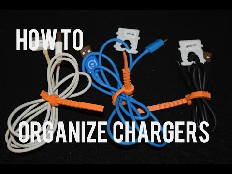 How to organize a mess of cords