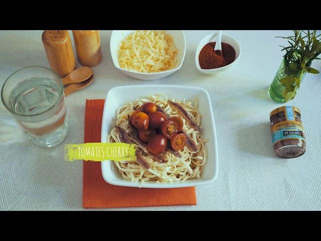 Espaguetis con anchoítas