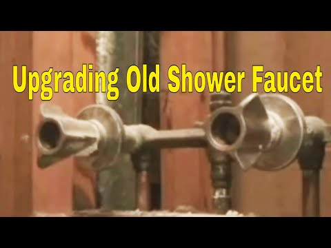 Removing Old Two Handle Shower Valve And Replace With Single Handle Moen Faucet