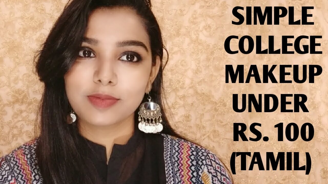 Download Tutorial   Simple College Makeup in tamil  Affordable makeup products everyday makeup in tamil