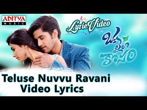 Teluse Nuvvu Ravani Video Song With Lyrics II Oka Laila Kosam Songs II Naga Chaitanya