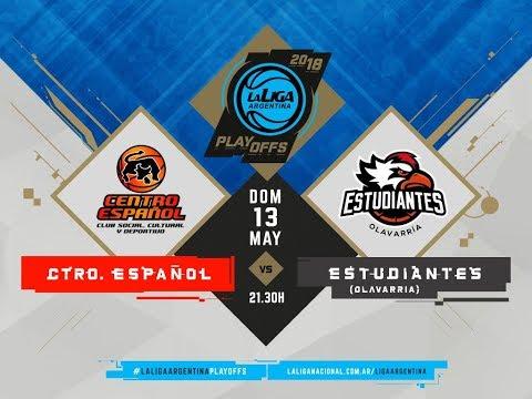 #LaLigaArgentina | PlayOff SEMIFINAL | Juego 3 | 13.05.2018 Centro Español (0) vs. Estudiantes (2)