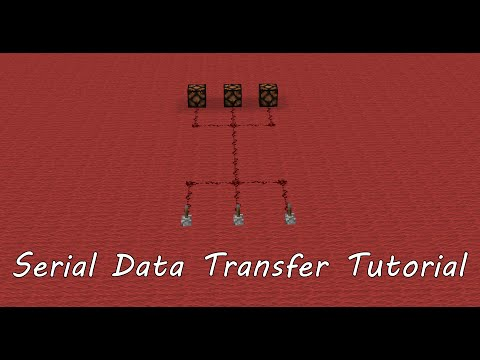 Minecraft Tutorial: Serial Data Transfer (Multiple signals through one wire)