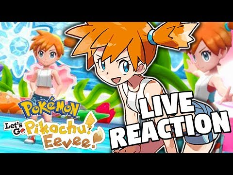 NEW GAMEPLAY! Pokemon Lets Go Pikachu and Pokemon Lets Go Eevee New Trailer LIVE REACTION!