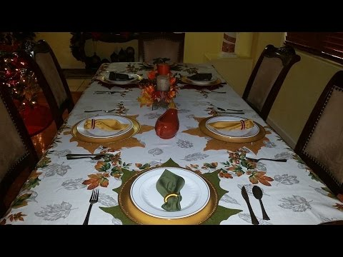 Decorando Mi Mesa Para Thanks Giving Accion De Gracias 2014 Youtube