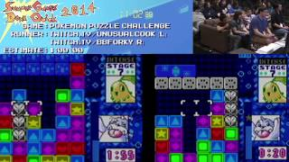 Summer Games Done Quick 2014 - Part 149 - Pokemon Puzzle Challenge