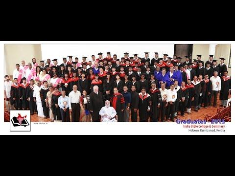 India Bible College & Seminary, Graduation Service 2015 @ IGO Campus - Part I