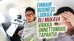 Finnair Business luokka oli mukava vaikka onnettomuus tapahtui