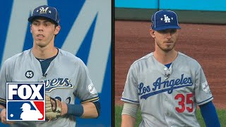 Christian Yelich and Cody Bellinger get mic'd up in the outfield for the 2nd inning | FOX MLB