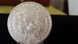 Unboxing 2015 Silver Shield Pieces of eight, Pirate Round. Design by Chris Duane