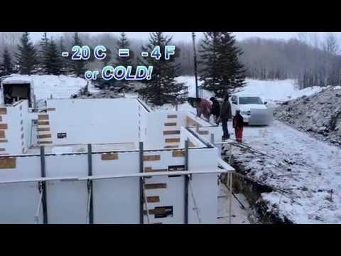 Cold Weather Concrete using Fox Blocks