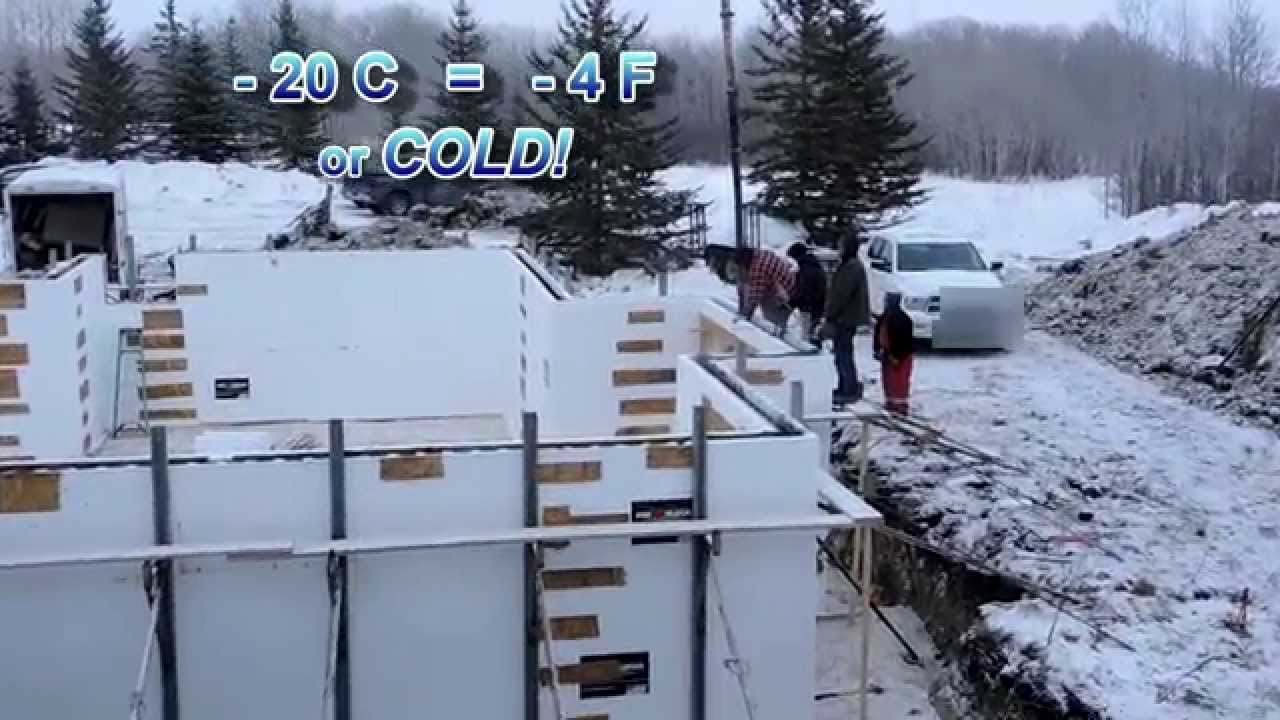 Cold Weather Concrete Using Fox Blocks Youtube