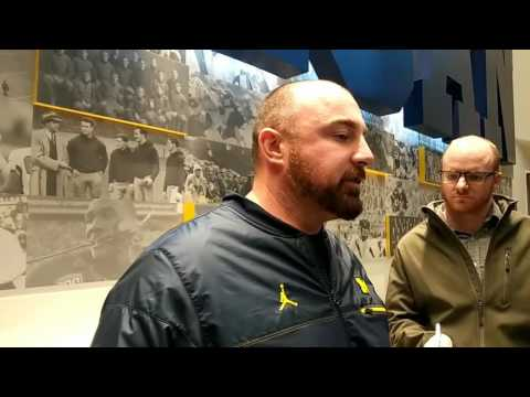 Michigan spring football: Wolverines LB Chris Partridge on recruiting, talent at LB