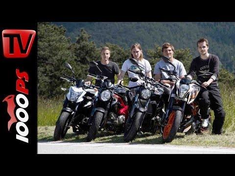 Einsteiger Motorräder 2014 | Nakedbike Vergleich