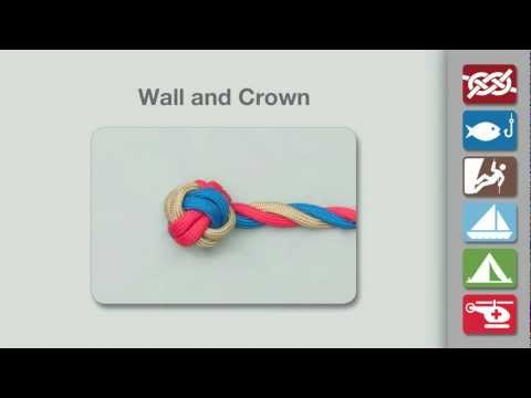 Wall & Crown Knot | How to tie a Wall & Crown Knot using