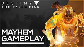 Destiny: The Taken King - Sunbreaker Gameplay! Mayhem Clash on Crossroads!
