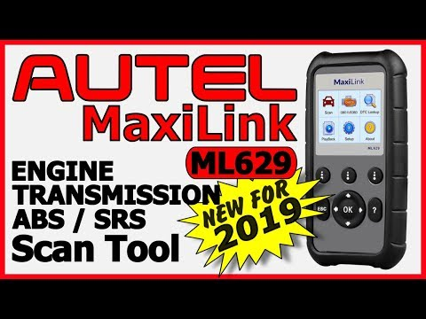 Autel ML629 MaxiLink OBDII Diagnostic Scan Tool 2019 Review Video