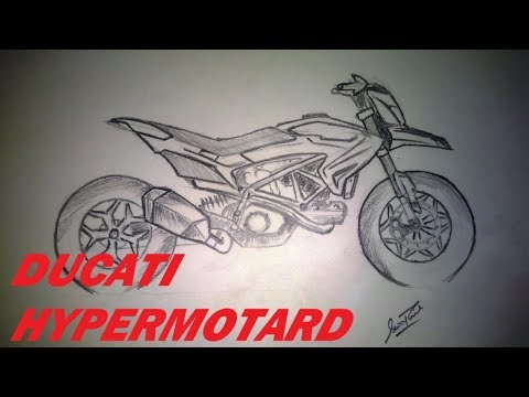 Ducati Hypermotard Sketch How To Draw A Ducati Youtube