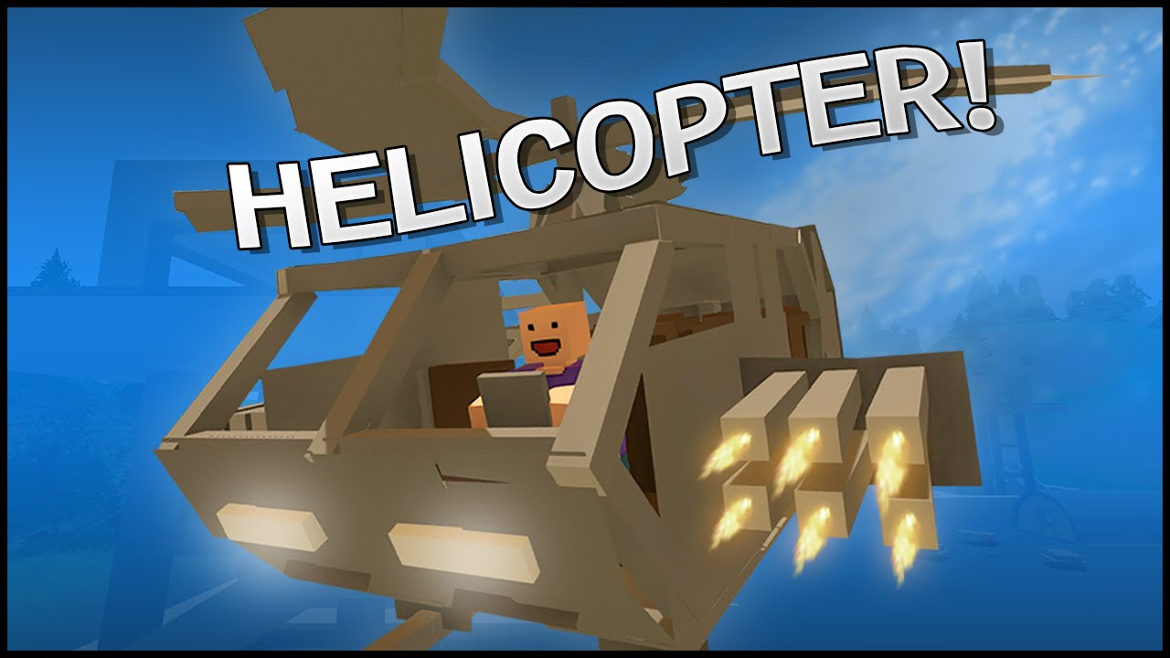 Unturned 3 0 building helicopter youtube