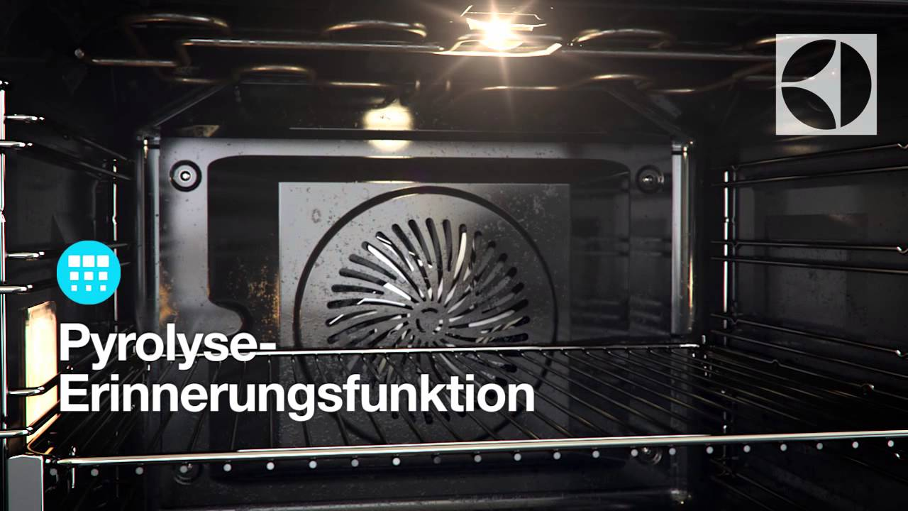 pyrolytische reinigung im electrolux backofen youtube. Black Bedroom Furniture Sets. Home Design Ideas