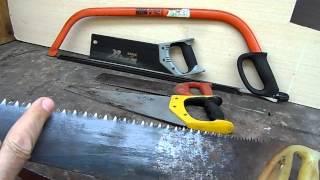 видео Как развести и заточить ножовку или пилу